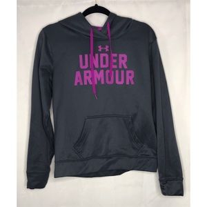 Gray purple medium Under Armour hoodie sweatshirt